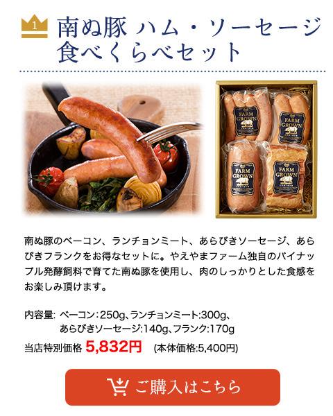 【父の日】 南ぬ豚 ハム・ソーセージ食べくらべセット