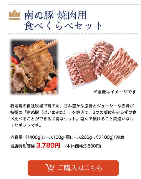 【父の日】 南ぬ豚 焼肉用 食べくらべセット