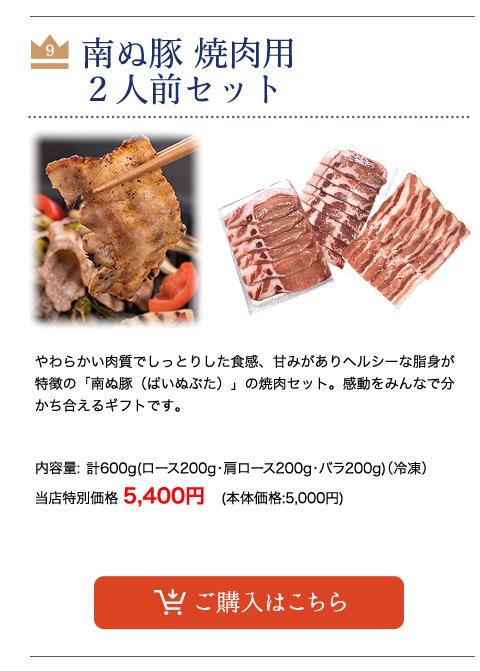 【父の日】 南ぬ豚 焼肉用2人前セット