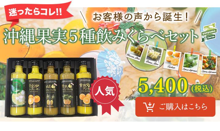 沖縄果実5種類飲みくらべセット