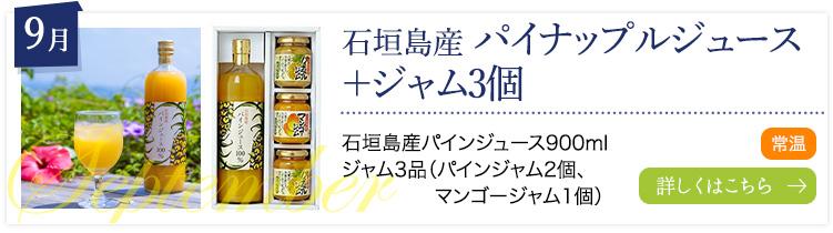 9月:石垣島産 パイナップルジュース+パインジャム1個
