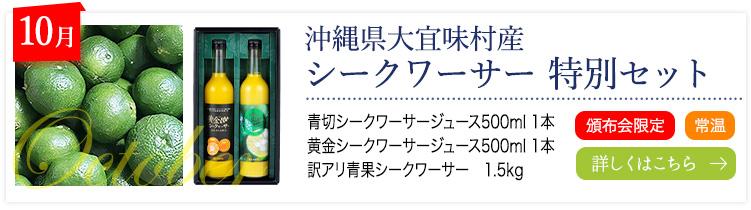 10月:大宜味村産 シークヮーサー特別セット