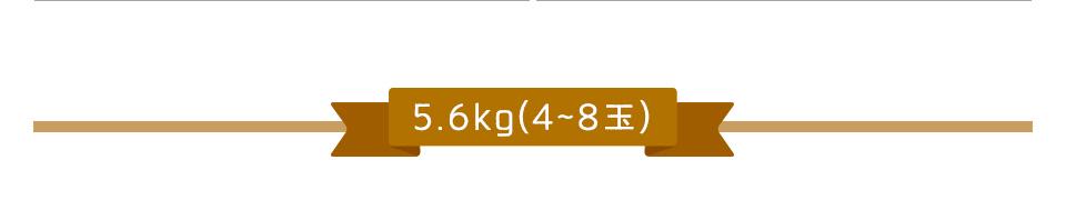 5.6kg(4〜8玉)