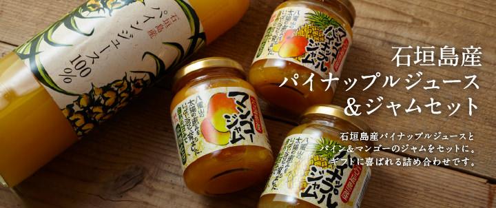 石垣島産パイナップルジュース&ジャムセット