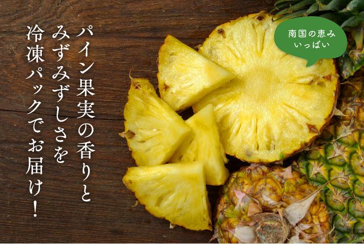 南国の恵みいっぱい!!パイン果実の香りとみずみずしさを冷凍パックでお届け!